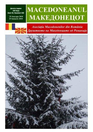 Ziar 102 ianuarie 2010.pub - asociatia macedonenilor din romania