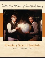 PSI ANNUAL REPORT 2012.indd - Planetary Science Institute