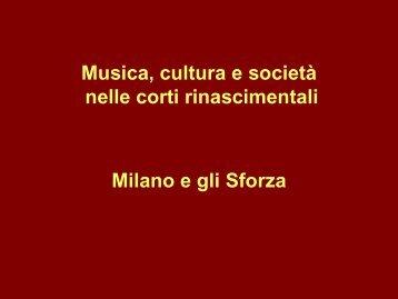 La musica nelle corti italiane del Rinascimento 1 - Dipartimento di ...