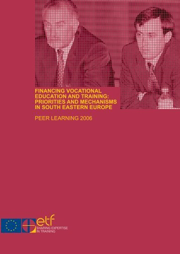 Financing Vocational Education and Training: Priorities ... - ERI SEE