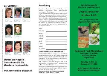Systematik nach Mangialavori - Klassische Homöopathie Ansbach