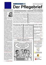Der Pflegebrief - Ausgabe 01/2006 (Nr. 92) - Pflegen-online.de