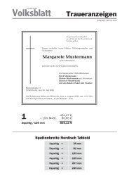 Muster und Preisliste für Traueranzeigen (PDF) - Verlagsservice ...