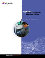 Financial Brochure A.. - MapInfo
