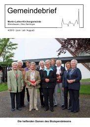 Offene Kirche - Martin-Luther-Gemeinde Ehlershausen-Ramlingen ...