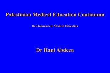 Dr Hani Abdeen - Gyn Bethlehem 2012