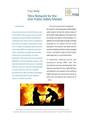 Tetra Network for the Irish Public Safety Market - Sigma Wireless