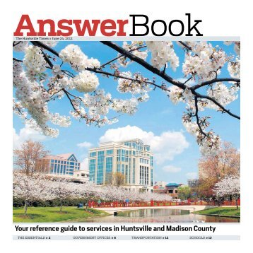 Your reference guide to services in Huntsville and Madison County