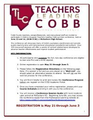 REGISTRATION is May 21 through June 3 - Cobb County School ...