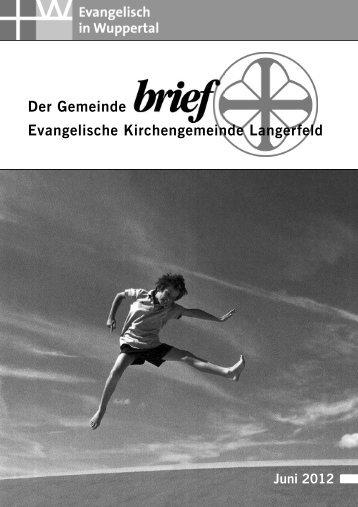 Bestattungen - Evangelische Kirchengemeinde Langerfeld