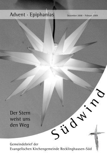 9. Dezember 2008 - Evangelische Kirchengemeinde ...