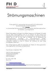 Strömungsmaschinen - Fachhochschule Düsseldorf