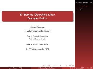 El Sistema Operativo Linux - Conceptos Básicos