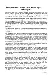 Ideenpapier - SEA-Arbeitsgemeinschaft Klima, Energie und Umwelt