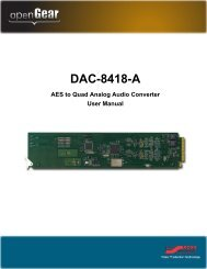 DAC-8418-A User Manual - Ross Video