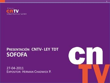 Lea la presentación completa. - CNTV
