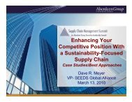 Enhancing Your Competitive Position With a Sustainability ... - Summit
