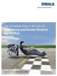 Ausbildung und Duales Studium bei MAHLE.