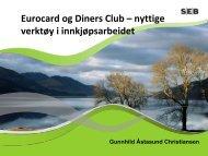 Eurocard og Diners Club – nyttige verktøy i ... - Tradebroker