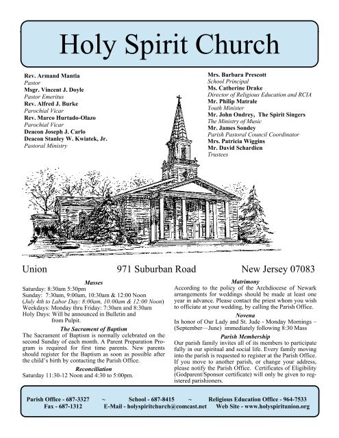 Sixth Sunday of Easter - Holy Spirit Church
