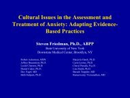 Cultural Issues in the Assessment and Treatment of Anxiety ...