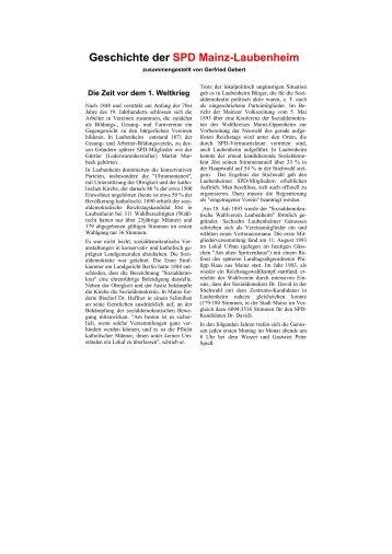 Chronik der SPD-Mainz-Laubenheim