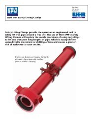 SAFETY LIFTING CLAMP FLYER - FRONT - Weir Oil & Gas Division