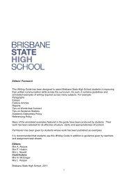 Writing Guide - Brisbane State High School