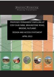 proposed permanent dwelling at cosy dub farm, braunstone road ...