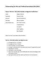 Årsberetning for FAU ved Tindlund barneskole 2011/2012