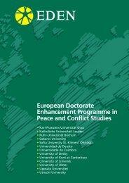 EDEN Brochure - HumanitarianNet - Universidad de Deusto