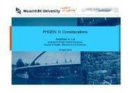 PHGEN II: Considerations