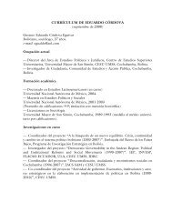 Curriculum Vitae - Ciudadania Bolivia