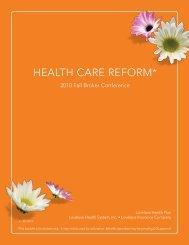 Health Care Reform Booklet - Lovelace Health Plan