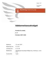 Uddannelsesudvalget - Kolding Kommune