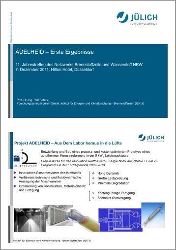 ADELHEID – Erste Ergebnisse - Kompetenz-Netzwerk ...