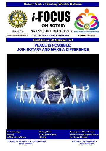 ON ROTARY - Rotary Club of Stirling