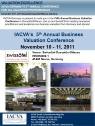 IACVA-Germany 5th Annual Business Valuation Conference ...
