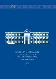 Tilsynsrapport 2007 - Københavns malerlaug