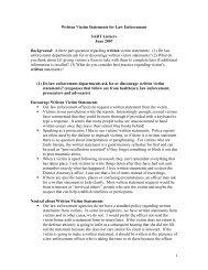 Written Law Enforcement Statements (June 2007)