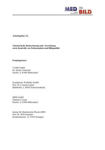 strahlenschutz instituts f r medizinische physik