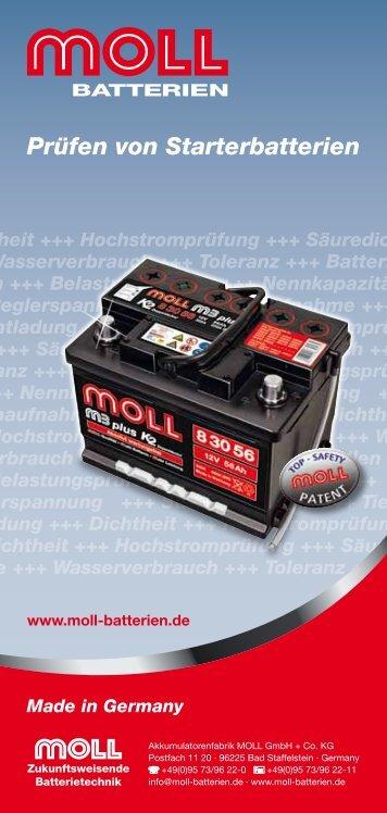 Prüfen von Starterbatterien - MOLL Batterien