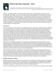 SOA in the Telco Domain - Part I - Service Technology Magazine