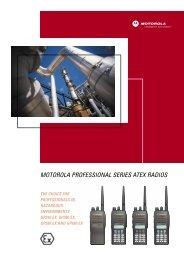 MOTOROLA PROFESSIONAL SERIES ATEX RADIOS