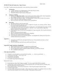 RJM 1/02/06 METBD 470 Materials Engineering – Report Format ...