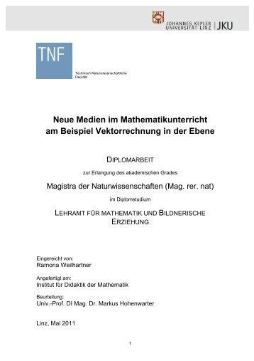 Neue Medien im Mathematikunterricht am Beispiel ... - idmthemen