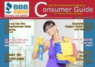 onsumer Guide - Better Business Bureau Southern in Alberta and ...