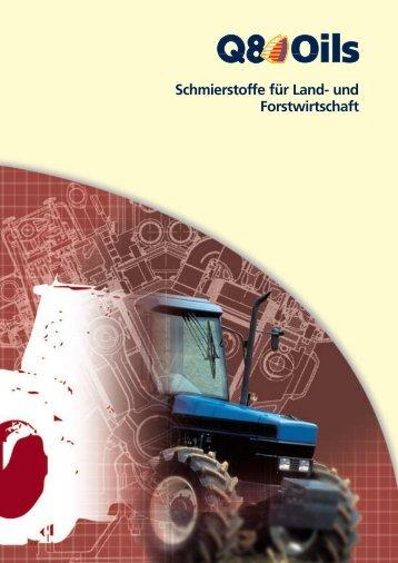 Schmierstoffe für Land- und Forstwirtschaft - Korb Schmierstoffe
