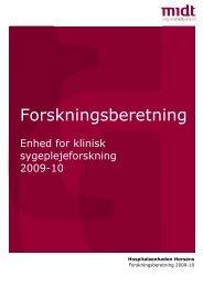 Forskningsberetning 2009-10 - Hospitalsenheden Horsens