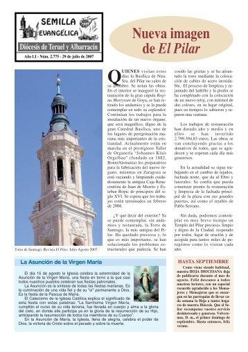 Nueva imagen de El Pilar - Diócesis de Teruel y Albarracín